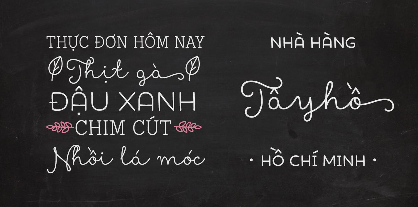 Font chữ Iciel đẹp