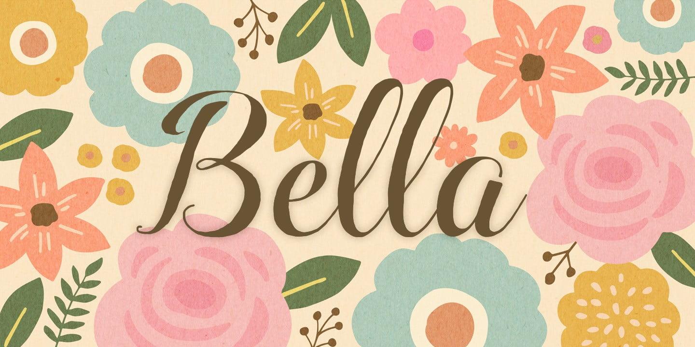 Font chữ hoa đẹp Bella