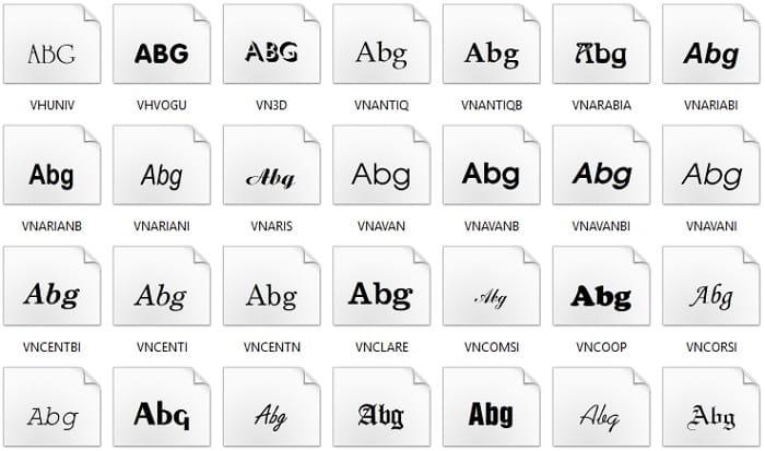 font-vnitime
